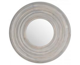 Štýlové zrkadlo s patinovaným dreveným rámom