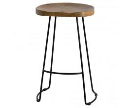 Dizajnová barová stolička s prvkami industriálneho a retro štýlu