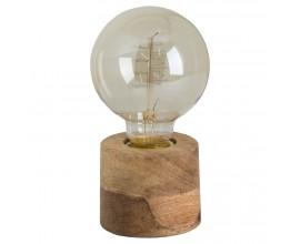 Dizajnová stolná lampa z masívneho dreva