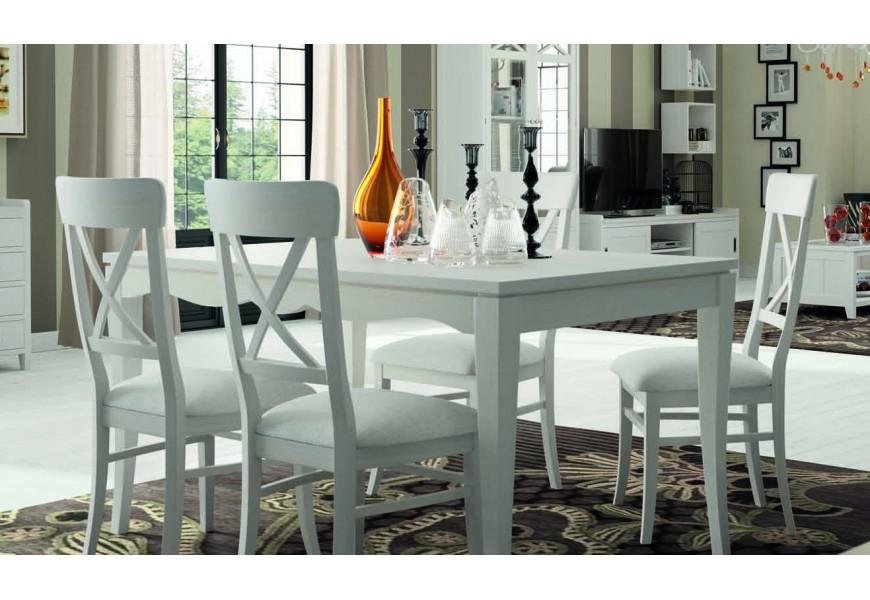Štýlový jedálenský stôl z masívu rozkladací FONTANA 140 (rozložený  200cm)