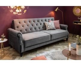 Prešívaná retro sedačka Maison Belle Affaire 220cm šedý zamat