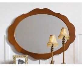 Luxusné rustikálne oválne zrkadlo RUSTICA zdobené nástenné