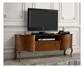 Luxusný vyrezávaný rustikálny TV stolík RUSTICA z masívu klasický štýl