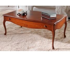 Luxusný rustikálny vyrezávaný konferenčný stolík RUSTICA obdĺžnikový 112cm