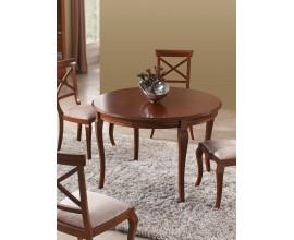 Luxusný rustikálny okrúhly jedálenský stôl rozkladací RUSTICA 115cm