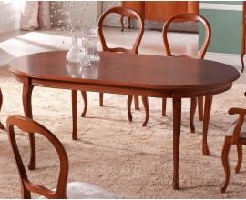 Luxusný rustikálny oválny jedálenský stôl RUSTICA rozkladací 180-240cm