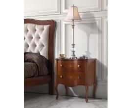 Luxusný rustikálny nočný stolík RUSTICA z masívu s 2mi zásuvkami