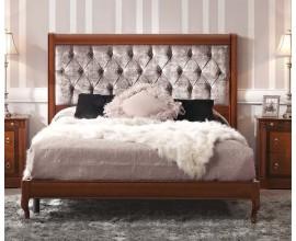 Luxusná rustikálna čalúnená manželská posteľ RUSTICA 135-180cm