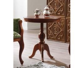 Luxusný okrúhly rustikálny príručný stolík CASTILLA v klasickom štýle
