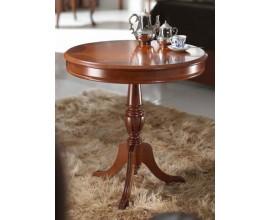 Vyrezávaný rustikálny okrúhly príručný stolík CASTILLA III 62cm