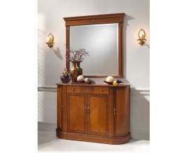 Rustikálny luxusný klasický príborník CASTILLA s oblými bokmi zdobený intarziou 121cm