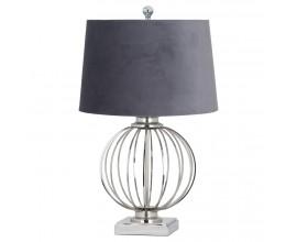 Štýlová stolná lampa Chrom 63cm