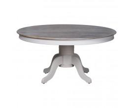 Dizajnový provensálsky okrúhly jedálenský stôl z masívu Liberty 150cm