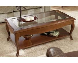 Luxusný vyrezávaný rustikálny konferenčný stolík CASTILLA II obdĺžnikový