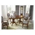 Luxusný vyrezávaný rustikálny rozkladací jedálenský stôl CASTILLA Chippendale II 180-240cm pre 6 osôb