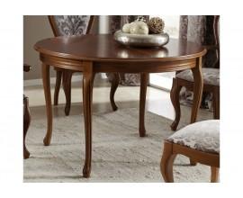 Luxusný rustikálny rozťahovací okrúhly jedálenský stôl CASTILLA I 115-155cm kruhový