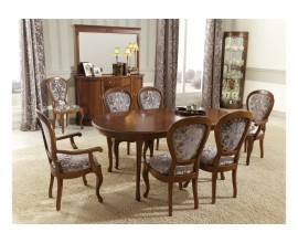 Luxusný rustikálny rozkladací jedálenský stôl CASTILLA I 180-240cm oválny