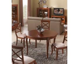 Luxusný rustikálny okrúhly rozkladací jedálenský stôl CASTILLA z masívu 115cm
