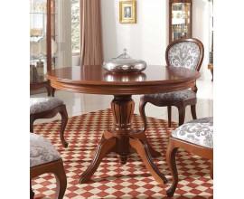Rustikálny okrúhly jedálenský stôl Chippendale CASTILLA vyrezávaný z masívu
