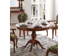 Luxusný rustikálny okrúhly jedálenský stôl CASTILLA Chippendale II z masívneho dreva