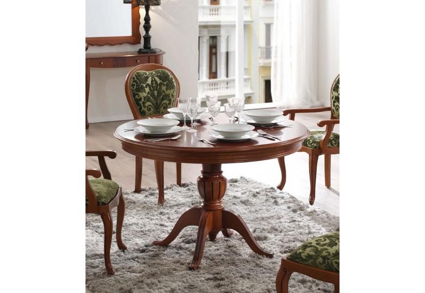 Vyrezávaný rustikálny stôl z masívneho dreva CASTILLA