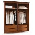 Luxusná rustikálna šatníková skriňa CASTILLA 2/3/4 dverová