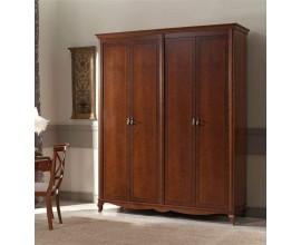 Luxusná rustikálna šatníková skriňa CASTILLA 4-dverová 183cm