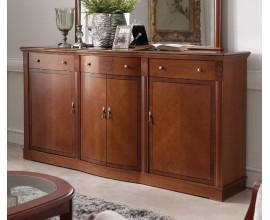 Luxusný rustikálny klasický príborník CASTILLA II s tromi zásuvkami a dvierkami 196cm