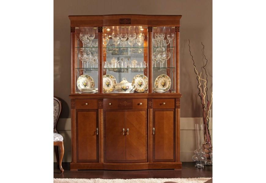 Rustikálna vitrína s príborníkom CASTILLA
