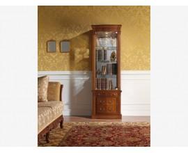 Luxusná rustikálna vitrína CASTILLA 60cm presklená s LED osvetlením