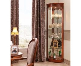Luxusná rohová vitrína CASTILLA z masívu