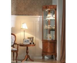 Luxusná rohová rustikálna vitrína na nožičkách CASTILLA II