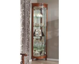 Exkluzívna rustikálna sklenená rohová vitrína CASTILLA na nožičkách