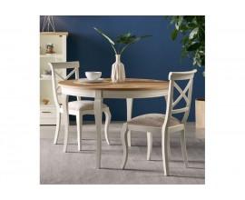 Dizajnový rozkladací okrúhly jedálenský stôl Tira II z masívu