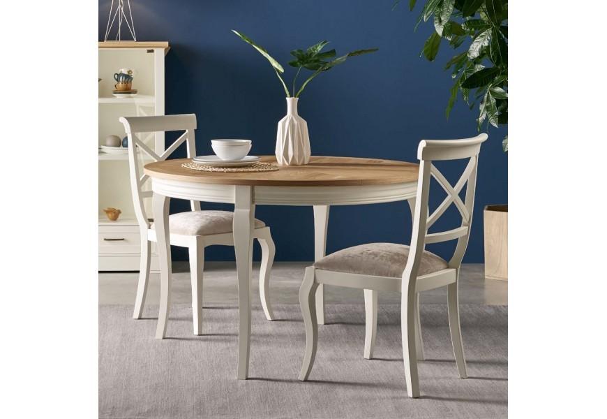 Jedinečný provensálsky jedálenský stôl Tira je možné zväčšiť rozložením