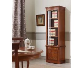 Luxusná rustikálna klasická knižnica so sklom CASTILLA 62cm