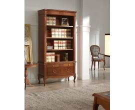 Luxusná rustikálna knižnica na nožičkách CASTILLA z masívu 102cm