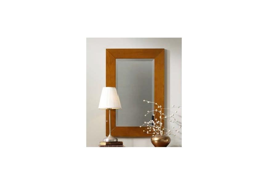 Jedinečné rustikálne zrkadlo Carmen II v ráme z kvalitného bukového dreva