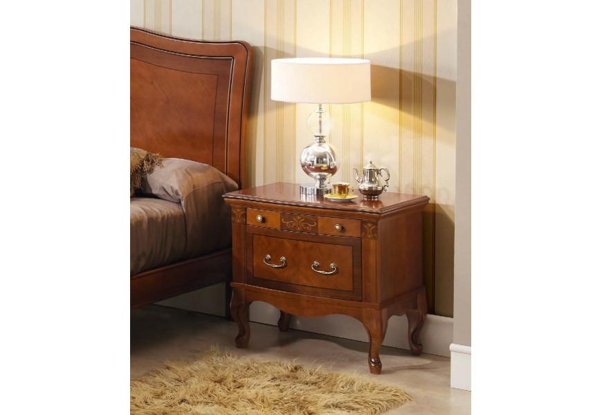 Luxusný rustikálny nočný stolík CASTILLA z masívu