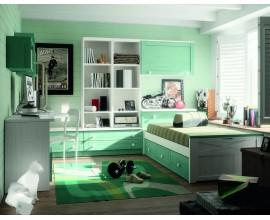 Luxusná študentská izba Blanco decape / Verde agua
