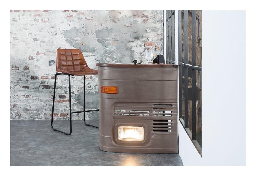 Luxusný bar Truck sivý so svetlom vľavo