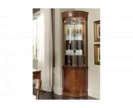Luxusná rohová rustikálna vitrína Castilla I v klasickom štýle