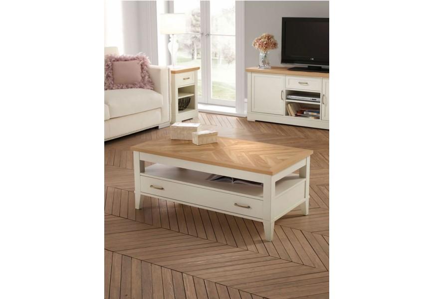 Jedinečný provensálsky TV stolík Tira II je vyrobený z kvalitného dubového dreva