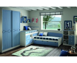 Luxusná detská izba Blanco decape / Azul Cielo