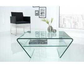 Luxusný sklenený konferenčný stolík Ghost 70cm