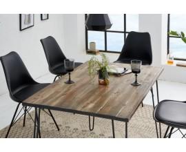 Industriálny jedálenský stôl z dreva a kovu Leeds 120cm