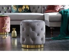 Jedinečná taburetka Modern Barock v tmavosivej farbe