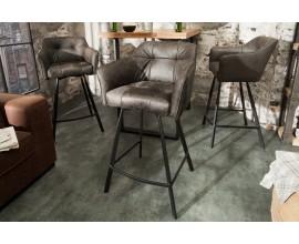 Štýlová stolička Ima v tmavosivej farbe