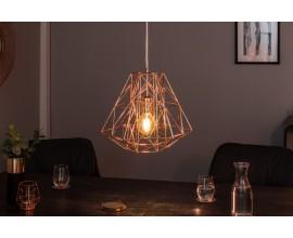 Dizajnová závesná lampa Mira ružovo zlatá