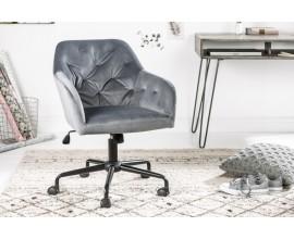 Luxusné kancelárske kreslo Berthe sivé